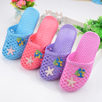 Korean version of the flat-bottomed home flat with slippers ladies summer Baotou soft non-slip bathroom plastic bag foot sandals