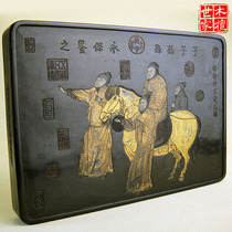 Classical collection of gold figures ancient ink fume Ink Block ancient fume ink Ming emperor test map Huizhou antique ink