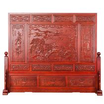 Dongyang wood carved wood floor screen Chinese living room bedroom office teahouse porch partition screen screen