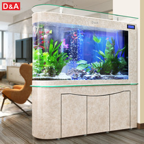 Germany Dirk bullet fish tank aquarium living room large glass bottom filter free water ecological goldfish tank