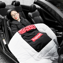Tide brand supreme car pillow quilt multi-function cushion car lumbar thickened car nap air conditioning was
