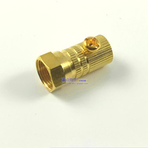 Full copper plated screw metric f head 75-5 two four shielded cable TV amplifier branch distributor connector
