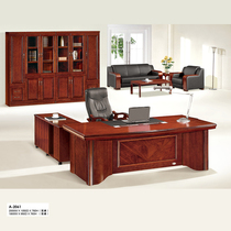 classe de grand bois massif 18 m terrasse simple autocollant moderne en bois cuir classe Table bureau soudage à l'arc m tête table patron bureau