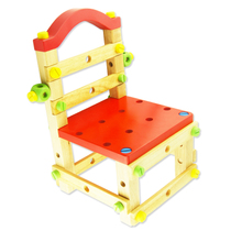 Wooden childrens toys tool chair nut combination screw disassembly building blocks toys baby puzzle wood