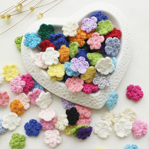 (10 price) mini crochet knit wool decorative fabric handmade childrens clothing hair accessories DIY accessories