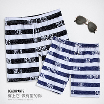 You swim seaside holiday beach pants summer loose casual quick-drying shorts tide male youth pants striped flower pants