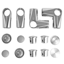 25 stainless steel pipe fittings fasteners floor racks accessories single pole round pipe rack two-way joint