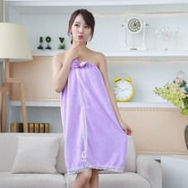 Summer bath towel can wear female bath skirt adult than soft strong absorbent big cute tube top sexy Korean version