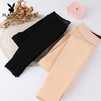 Playboy autumn and winter stockings women wear black color plus velvet foot socks warm was thin leg artifact one pants