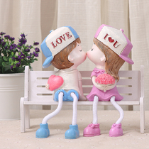 Couple hanging foot doll wedding gift small ornament small gift tabletop ornament decoration doll home accessories