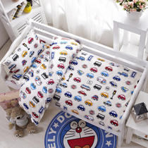 Kindergarten quilt three-piece cotton summer baby nap special bedding crib products with core six sets of winter