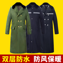 Military coat male Winter thickening special forces long section of cold-proof cotton coat female security coat labor insurance cotton jacket cotton clothing male