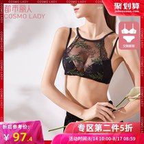 Urban beauty 19 new ins no rims hanging neck tube top underwear thin chest sexy beauty back bra 2b9203