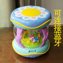 Baby hand drum toy rechargeable large male and female children baby 0-1 years old music Pat drum multi-function 3