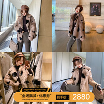 Spain imported Tuscan fur one fur coat female short paragraph 2 wear thin fur coat
