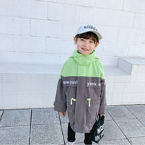 Childrens windbreaker boys spring and autumn Korean version of the jacket boy 2020 in the long section of childrens clothing in the Tong yangqi new coat