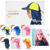 Childrens beach sun hat baby outdoor sun protection cap neck cap uv anti-UV ghost hat cape swimming cap