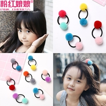 Cute hair ball hair rope little girl child hair accessories do not hurt the hair rubber band girl baby hair ring head rope head jewelry