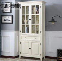 American living room side cabinet locker solid wood bathroom storage cabinet waterproof bathroom side cabinet side cabinet cabinet high cabinet