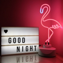 Net Red photo props ins with the alphanumeric girl soft sister room dormitory decoration lamp home decoration