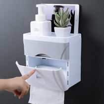 Toilet toilet paper towel box free punch roll paper tube pumping paper toilet paper box waterproof toilet paper racks hand paper box