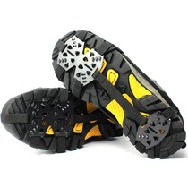 Outdoor 18-tooth reinforced crampons non-slip shoes snow claws winter mountaineering spikes shoes chain snow mud ice grip