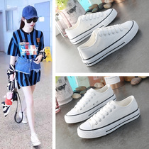 2019 new white canvas shoes students board shoes ulzzang Korean version of the wild tide shoes summer summer shoes
