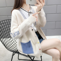 Ladies cardigan sweater women early spring 2019 new womens spring style knit cardigan jacket female spring and autumn tide
