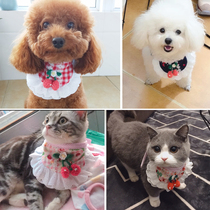 Dog scarf triangle towel snort medium-sized dog small dog Teddy Bomi small cat scarf neck pet supplies