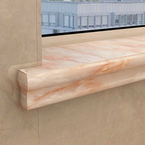 European window sill surface finished custom window cover package border custom window decoration line self-installed window sill stone line.