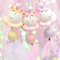 Creative cartoon girl heart room decoration crafts hamster leather rat wind Bell Bell door and window ornaments ornaments