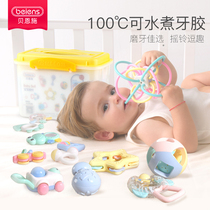 Bain Enshi rattles baby toys 0-1 years old infant baby puzzle gum toys 0-3-6-12 months