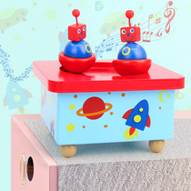 Childrens Music Box mainspring Rotary Music Box baby lullaby wooden model handmade DIY birthday gift
