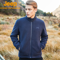 Jeep Jeep thick fleece jacket fleece fleece jacket coral fleece jacket