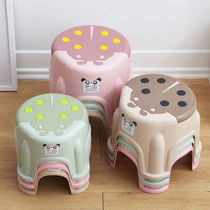 (Four pack)thick plastic stool home childrens stool stool for shoes stool non-slip round bench