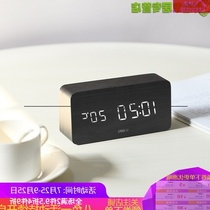 (Four 8% off) hygrometer electronic clock student calendar indoor creative luminous mute voice control