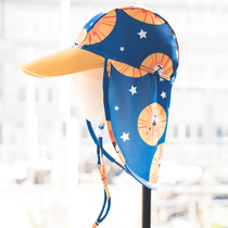 Sea border sun hat children Korean cartoon long cover neck foldable boy baby swimming fashion big hat eaves
