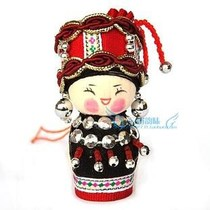Yunnan 56 ethnic minority crafts ornements marionnettes pendentif pendentif small hanging baby-Jingpo
