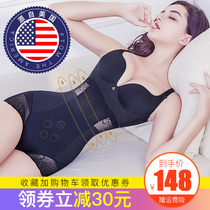 États-Unis Queenral abdomen shaping underwear femelle hip shaping waist summer thin section burning fat waist slimming pants