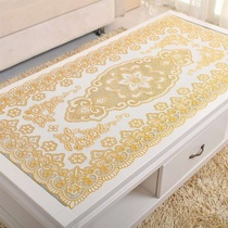 PVC gilding placemat table cloth heat pad disposable non-slip tablecloth rectangular oval Hollow coffee table cloth coaster