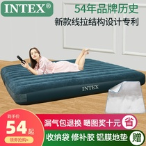 INTEX inflatable mattress home air mattress folding bed thick double outdoor lazy portable bed increase