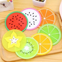 7 creative fruit pattern silicone coaster Bowl pad insulation mat household Table Pad anti-hot pad Cup mat
