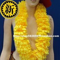 Hawaiian Garland encryption Garland large flower piece j yellow length 1 M 2 hula accessories props
