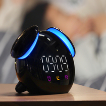 Bedside mute luminous electronic small alarm clock student smart charging cartoon childrens dormitory dedicated multi-function