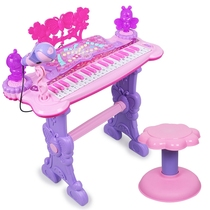 Childrens keyboard toys girls 1-3-6 years old beginner puzzle baby Music Piano Microphone can play charging