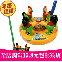 Childrens hand push chick rice toddle toddle walkie toy toy hot sell childrens toy toddle trolley.