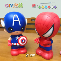 Enfants paintnot bad plaster doll scan smouldering céramique white embryo painting mold painted toy Spider-Man