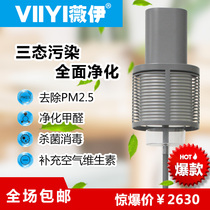 viiyi Weiyi anion air purifier small particle generator household explosion in addition to formaldehyde A6 Gray