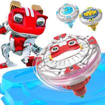 Genuine happy cool Treasure 3 gyro childrens girl boy battle toy magic suit red flame Frog King blast leopard King 2