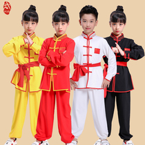 Childrens martial arts practice clothes childrens kung fu training martial arts costumes Chinese wind costumes boys and girls tai chi costumes
